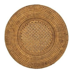 Entertaining with Caspari 13-inch Rattan Charger - I love these chargers. The rattan is so versatile and easy to match with any dinner party table setting. The neutral color would happily pair with a simple table runner in lieu of a tablecloth.