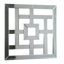 "Concepts Life - Concepts Life Accent Mirror  Between the Lines - Complement your modern interior design, with out Between the Lines accent mirror. We love the mixture of lines, angles and open spaces in this mirror which will add decorative drama to your office, living space, or bedroom.  Modern mirror with black MDF backing; D hooks attached for hanging. Dimensions: 32""w x 32""h x 1""d Weight: 21 lbs Mounting hardware not included Imported"