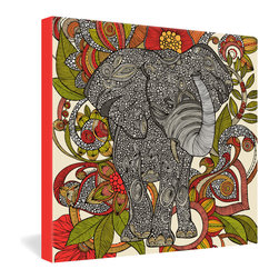 "DENY Designs - Valentina Ramos Bo The Elephant Gallery Wrapped Canvas - Want your home to show like a museum? Look no further than the gallery wrapped canvas collection! Each Gallery Wrapped Canvas from DENY is made with UV resistant archival inks and is individually trimmed and professionally stretched over 1-1/2"" deep wood stretcher bars. We also throw in the mounting hardware so that when you get it, it's a piece of cake to hang on your wall. The only thing you'll need after your purchase is the cool gallery laser beam security to protect it."