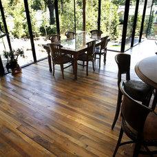 Contemporary Hardwood Flooring by Elmwood Reclaimed Timber Inc.