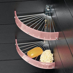 Nameeks - Nameeks | Corner Shower Basket 0888 - Made in Italy. A part of Toscanaluce by Nameek's.Implement the Corner Shower Basket 0888 into your shower or bath to organize all your toiletries. The functional design of this shower basket allows for easy drainage of water. Made from plexiglass and brass, it holds its charm after years of use. With two shelves, there is ample storage capacity for body wash, shampoo, conditioner and all other shower necessities. Select from a range of colors to complete your shower ambiance. Product Features: