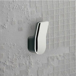 Gedy - Anthracite and Chrome Wall Mounted Towel or Robe Hook - A contemporary robe hook that is made in cromall and thermoplastic resins and finished in anthracite. Part of the Bijou collection by Gedy, this decorative towel/robe hook works well in more contemporary bathrooms. Made in Italy by Gedy. Gedy towel/robe hook. From the Bijou collection. Decorative & designer, made in cromall and thermoplastic resins and finished in anthracite. Made in Italy.
