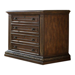 Hooker Furniture - Hooker Furniture Adagio Lateral File - Hooker Furniture - Filing Cabinets - 509110466 - Grand scale classic design and soft flowing shapes are married with a rich dark finish to give birth to the stunning Adagio collection.