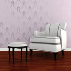 Deco Pearls Damask Wall Stencil - Deco Pearl Damask Wall Stencil. Create an elegant Hollywood Regency look with this Art Deco inspired allover stencil pattern. Use to create a feature wall focal point or stencil all the walls with this continuous swag pattern for a custom wallpaper look.
