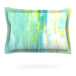 "Kess InHouse - CarolLynn Tice ""Spring Forward"" Green Pillow Sham (Cotton, 40"" x 20"") - Pairing your already chic duvet cover with playful pillow shams is the perfect way to tie your bedroom together. There are endless possibilities to feed your artistic palette with these imaginative pillow shams. It will looks so elegant you won't want ruin the masterpiece you have created when you go to bed. Not only are these pillow shams nice to look at they are also made from a high quality cotton blend. They are so soft that they will elevate your sleep up to level that is beyond Cloud 9. We always print our goods with the highest quality printing process in order to maintain the integrity of the art that you are adeptly displaying. This means that you won't have to worry about your art fading or your sham loosing it's freshness."