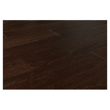 """Jasper - Jasper Engineered Hardwood - Smooth Aspen Collection - [26.3 sq ft/box] - Espresso / 5"""" -  Due to the rich and thorough staining process used for the Jasper Smooth Aspen Collection, your home will look outstanding for many years to come, but at a price you can afford.  Create the look you want at the price you need at BuildDirect  Warm and comfortable but with the modern sophistication of dark wood in your home, the Jasper Smooth Aspen Collection looks outstanding wherever it is installed. With its rich, thorough staining process, there will be only subtle variation from plank to plank, and so this wonderful flooring product will provide a very continuous and sleek look to your home.  Engineered floors like those in this collection are eco-friendly due to maximizing the yield of each tree used. They take the best boards in each tree and make them shine, which means that you're getting a stable product as well.  High quality at a loss-leader price at BuildDirect  With the best price for an engineered floor on the market today, BuildDirect offers you more for your money with the Jasper Smooth Aspen Collection. Get the floor you want at a price you and your family can afford. With high value products at affordable prices that meet any budget, we know you're getting more for your money.   Add value to your home by investing in a product that's easy to install and made available for less. BuildDirect works with the world's leading manufacturers to make sure you're receiving exceptional value for your hard-earned money, and we pass these savings on to you."""