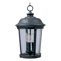 Maxim Lighting - Traditional Classic Three Light Up Lighting Outdoor Pendant - Traditional and unassuming, the Dover hanging lantern epitomizes classic simplicity.