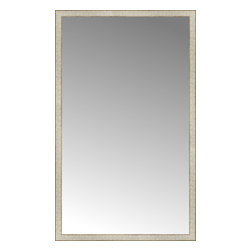 "Posters 2 Prints, LLC - 39"" x 64"" Libretto Antique Silver Custom Framed Mirror - 39"" x 64"" Custom Framed Mirror made by Posters 2 Prints. Standard glass with unrivaled selection of crafted mirror frames.  Protected with category II safety backing to keep glass fragments together should the mirror be accidentally broken.  Safe arrival guaranteed.  Made in the United States of America"