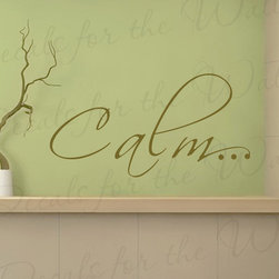 Decals for the Wall - Wall Decal Sticker Quote Vinyl Art Removable Lettering Graphic Letter Calm I82 - This decal says ''Calm…''