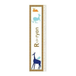 KidKraft - Animal Boys Growth Chart, MDF by Kidkraft - Can be personalized with any name up to 9 characters in length. All lower case letters. It's so easy to measure your child's height. Ruler is marked at half inch increments, from 19' to 59'.