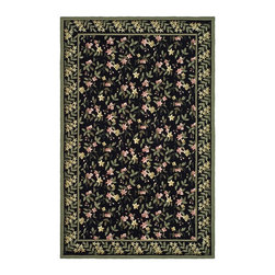 "Safavieh - Country & Floral Wilton 7'9""x9'9"" Rectangle Black - Green Area Rug - The Wilton area rug Collection offers an affordable assortment of Country & Floral stylings. Wilton features a blend of natural Black - Green color. Hand Hooked of Wool the Wilton Collection is an intriguing compliment to any decor."