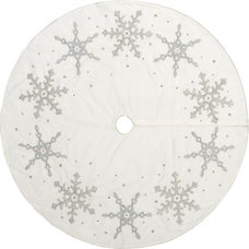 Contemporary Christmas Tree Skirts by Crate&Barrel