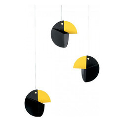 Inova Team -Modern Cardboard Parrots Mobile - Set Of 3 - This adorable mobile features three cute parrots in cardboard.