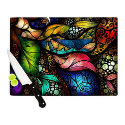 "Kess InHouse - Mandie Manzano ""Sleep and Awake"" Cutting Board (11"" x 7.5"") - These sturdy tempered glass cutting boards will make everything you chop look like a Dutch painting. Perfect the art of cooking with your KESS InHouse unique art cutting board. Go for patterns or painted, either way this non-skid, dishwasher safe cutting board is perfect for preparing any artistic dinner or serving. Cut, chop, serve or frame, all of these unique cutting boards are gorgeous."
