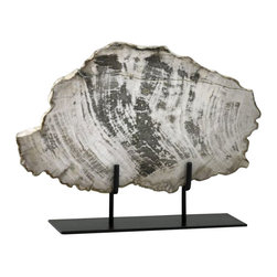 Cyan Design - Large Petrified Wood On Stand - Weight: 13.8lbs.