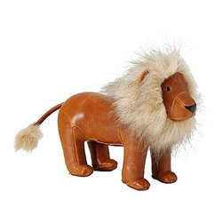 Menagerie Bookend, Lion - This faux leather king of the jungle bookend from Serena & Lily will rule your bookshelves.