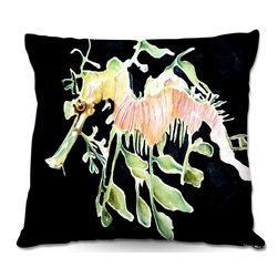 DiaNoche Designs - Pillow Woven Poplin from DiaNoche Designs by Marley Ungaro - Deep Sea Life- Sea - Toss this decorative pillow on any bed, sofa or chair, and add personality to your chic and stylish decor. Lay your head against your new art and relax! Made of woven Poly-Poplin.  Includes a cushy supportive pillow insert, zipped inside. Dye Sublimation printing adheres the ink to the material for long life and durability. Double Sided Print, Machine Washable, Product may vary slightly from image.