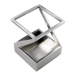 ArtsOnDesk - ArtsOnDesk Pen/Pencil Holder Stainless Steel Satin Finish - This Pen and Pencil Holder is created from the designer's inspiration to create a unique pen and pencil holder which will be a must-have desk accessory as well as a work of modern art, and meanwhile it will have enough weight to prevent t other holders' problem of easily flipping over. Made of high quality stainless steel with metallic satin finish, this pen and pencil holder is crafted by hand and made with the cutting-edge workmanship. Its unique design has a patent applied for in countries. At the bottom a secret code is laser engraved which hides important collective information. Decoding is provided in a small booklet with the product. It comes with an optional black felt fabric to protect the inside bottom.  4 pads are on the outside bottom to prevent scratching. Packed in a gift box. Pens are not included.