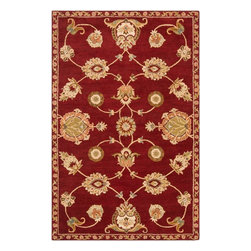 Surya - Surya Langley Traditional Hand Tufted Wool Rug X-118-1001GAL - Available in five colors, the Langley Collection is a classic traditional pattern. These rugs are hand tufted from 100% wool and feature a hard twist texture.