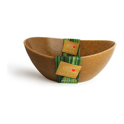 Architec™ Housewares - EcoSmart™ by Architec™ Polyflax™ Serving Bowl, Flax Brown - EcoSmart™ by Architec™ Polyflax Serving Bowl. Made by a zero-waste factory in the USA.  Translucent recycled plastic with suspended flax husk. Made in USA!