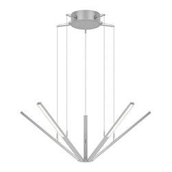 Sonneman Lighting - Sonneman Lighting 2300.16 Starflex LED Chandelier In Bright Satin Aluminum - Sonneman Lighting 2300.16 Starflex Led Chandelier In Bright Satin Aluminum