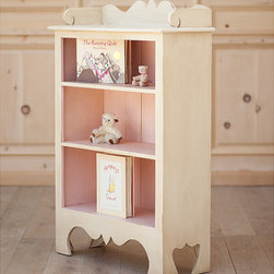 Pastel & Interesting Furniture by Bradshaw Kirchofer Handmade Furniture - Harry's Bookcase brings both charm and warmth to a child's playroom or bedroom. It boasts beautiful curved detailing with three shelves to display your most precious items. Crafted using traditional mortise and tenon joinery. It may be ordered with: