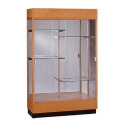 Waddell - Heritage 70 in. Display Case (Danish Walnut) - With their classic styling, Heritage Series cases will stand the test of time as well as they stand up to school environments. With over a century of experience behind them, Heritage Series display cases continue to be a favorite.