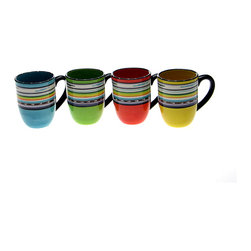 Certified International - Certified International 'Santa Fe' 17-oz. Mug (Set of 4) - Add a burst of colorful flair to your kitchen accessory decor with this 17-ounce ceramic mug set from Certified International. This set includes four mugs with a durable ceramic construction with vibrant decorations to add personality to your kitchen.