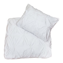 Crane & Canopy (www.craneandcanopy.com) - 400 Thread ount White Pintuck, The Valencia - Full of volume and elegance, this 400 thread count white pintuck duvet will add textural dimension to subtly bring your room to life.  Multiple pintucks are sewn to perfection.