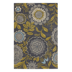 Chandra - Chandra Amy Butler Transitional Hand Tufted Floral Rug X-675-11231YMA - Amy Butler is a fabric, home, fashion, and print designer known for her modern approach to botanical, geometric and romantic inspirations. With spirited color and confident combinations of print, Amy has created a freshened view of the many product categories for which she now designs. Amy's growing brand has become synonymous with creativity, sustainability, quality, and great style.