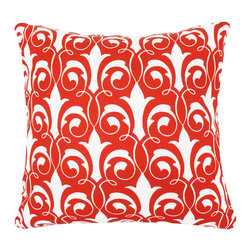 """DD - Damask Outdoor Pillow 20"""" x 20"""" - This lovely Damask Outdoor Pillow will add fun and flare to your outdoor space."""