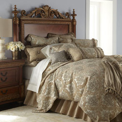 Dian Austin Couture Home - Dian Austin Couture Home Florentine Brocade King Duvet Cover - Dian Austin Couture Home® creates bedding ensembles inspired by those seen in European palaces and designed to bring that level of luxury to your home by combining fabulous textures and lavish trims. These Florentine linens embody every element of....