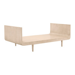 "Redford House - Redford House London Day Bed - Ultra-modern style is the hallmark of the Redford House London daybed. Sleekly curved lines and exposed, tapered legs lend the hardwood furnishing contemporary captivation. Twin: 79""W x 40""D x 28""H; Shown in Cashew; Twin size only; Made from Pacific Northwest Alder wood; Available in several non-toxic finish options; Hand-finished; Optional distressing mimics everyday wear; Color and texture may vary from piece to piece"