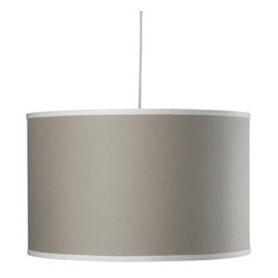 Oilo - Solid Large Cylinder, Taupe - The classic drum shade works beautifully in most spaces. It can pull in a needed pop of color while ensuring a soft glow to any part of your room. A white acrylic sheet diffuses the light, and a 55-inch cord allows you maximum flexibility in adjusting to your desired height. You really can't go wrong with this iconic light.