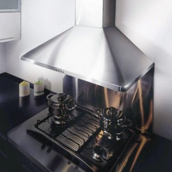 "Kobe - RA-094 RA9436SQB 35.75"" Wide Pro-Style Wall Mount Range Hood  760 CFM Internal B - Pro-Style Wall Mount Range Hood 760 CFM Internal Blower Halogen Lighting 45 Sones 4 Speeds Baffle Filters KOBE39s unique design which includes easy to empty catch areas and smooth hood surface lets you clean the fans without disassembling the hood"