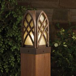 Kichler Lighting - Kichler Lighting 15479TZT Cathedral 1 Light Deck/Step Lighting in Textured Tanne - Post light 12V