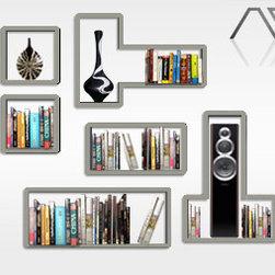 Custom stainless steel book shelf -