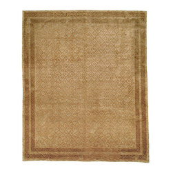 TB231A Tibetan Rug - 10'x14' - Safavieh's High Touch Tibetan Weave brings an ancient weave and fine materials to the present sensibilities of today's interior design. Simple geometric patterns, almost hidden within the weave, with muted accents, soft shades and neutral earth tones, are the main visual characteristics of this series.