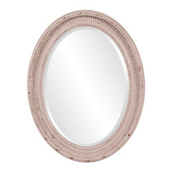 """Frontgate - Nero Mirror - Crafted of hardwood. Stone grey finish. Inner dimensions measure 20"""" x 28"""". Wipe clean with a soft cloth. The simple, oval-shaped Nero Mirror features a wood constructed frame with a rustic stone grey finish. Bring new life to a vanity area or place this charming piece above your bed to reflect light and make your space feel larger.  .  .  .  ."""