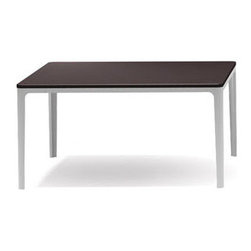 Vitra - Vitra Home Dining Table - Features: -Constructed of die-cast aluminum and powder-coated tubular steel base frame.-Vitra Home Collection.-Collection: Jasper Morrison.-Distressed: No.-Country of Manufacture: Germany.Dimensions: -Dimensions: 14.25'' H x 27.5'' W x 27.5'' D.