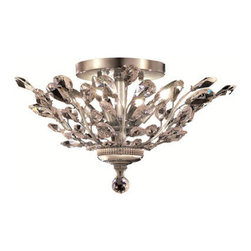 Elegant Lighting - Elegant Lighting 2011F20C/SS Orchid 4 Light Flush Mounts in Chrome - 2011 Orchid Collection Flush Mount D20in H10in Lt:4 Chrome Finish (Swarovski Strass/Elements Crystals)