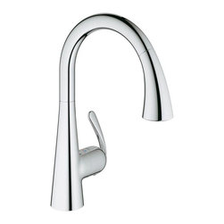Grohe - Grohe Ladylux Single Handle Pullout Kitchen Faucet, StarLight Chrome - Grohe 32 298 001 Ladylux Single Handle Pullout Kitchen Faucet, StarLight Chrome