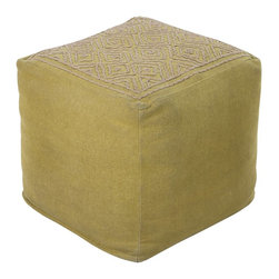 Beth Lacefield - Beth Lacefield Pouf X-112-FUOP - This square pouf offers a fresh design and bright colors that will add sophistication and visual interest to any room. Made in India of mostly Linen, this product is durable and priced right.