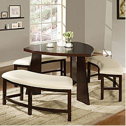 Paradise Dining Set - This unique seating looks like more of an eat-in set, but it's definitely doable for the contemporary or more modern dining room.