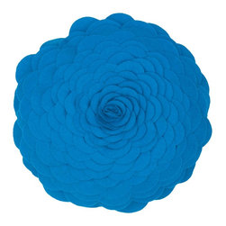 "Blue 14"" Round Prefilled Decorative Throw Pillow Set of 2 - *14"" Round Prefilled Pillow"