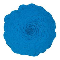 "Blue 14"" Round Prefilled Decorative Throw Pillow Set of 2 - *14"" Round Prefilled Pillow"