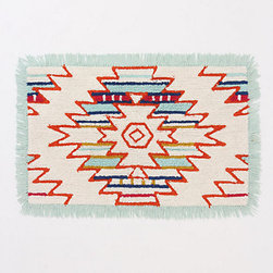 Mod Desert Bathmat - The bold Southwestern motif on this bathmat would add some interest to a bathroom.