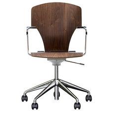 Egoa Task Chair Soft Wheels - Wood - Design Within Reach