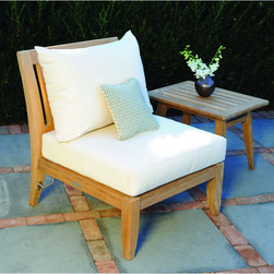 Outdoor Furniture - Ipanema sectional armless chair | Lawn & Leisure