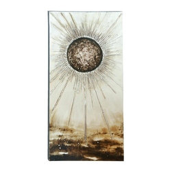 Benzara - Gorgeous Sun Painting with An Inspiring Style - Gorgeous Sun Painting with an Inspiring Style. This Sun is beautifully realized here with immaculate detail, and long, inspiring rays of light.